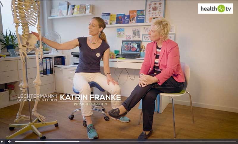 Katrin Franke bei Health TV zum Thema Beckenbodentherapie und Beckenbodentraining für Männer