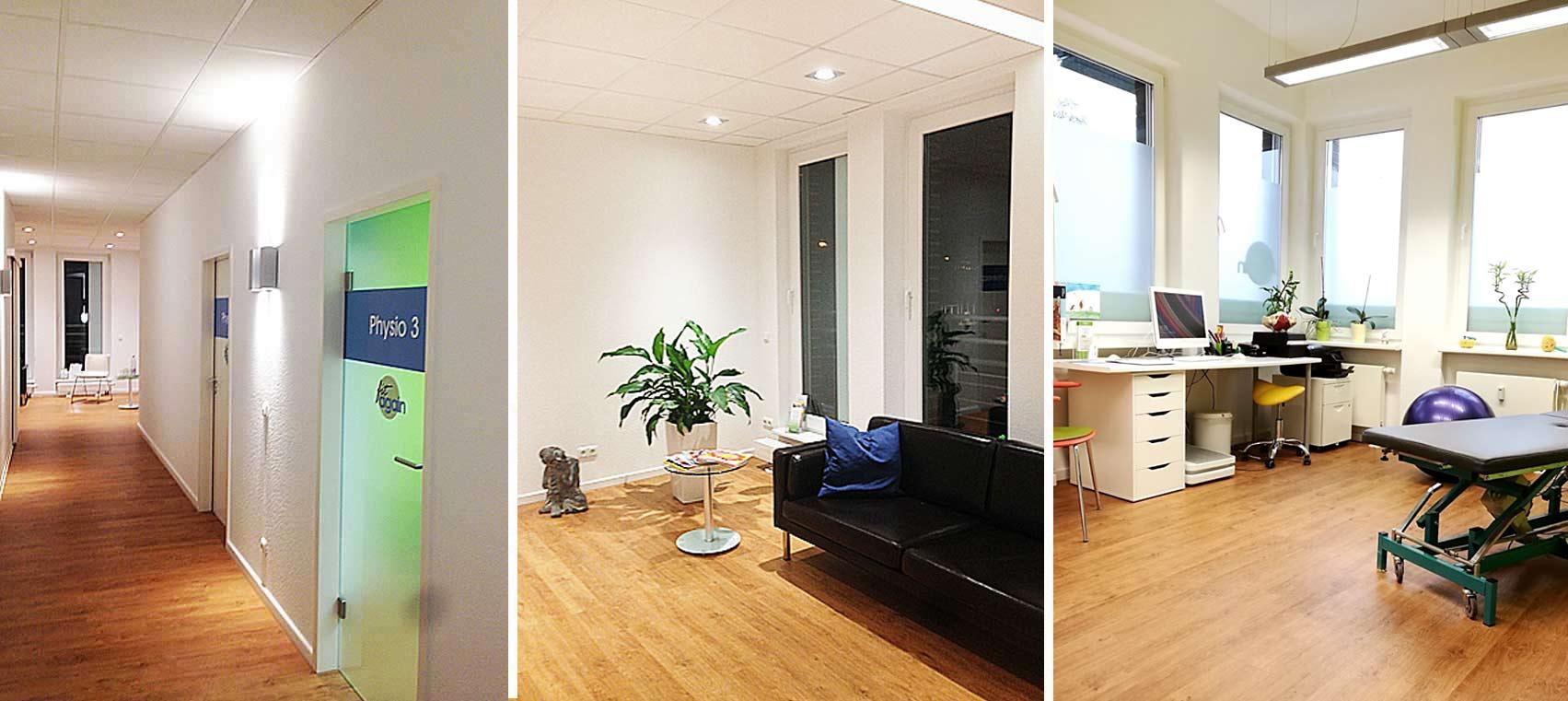 Impressionen unserer Praxis für Physiotherapie, fit again, Köln-Junkersdorf