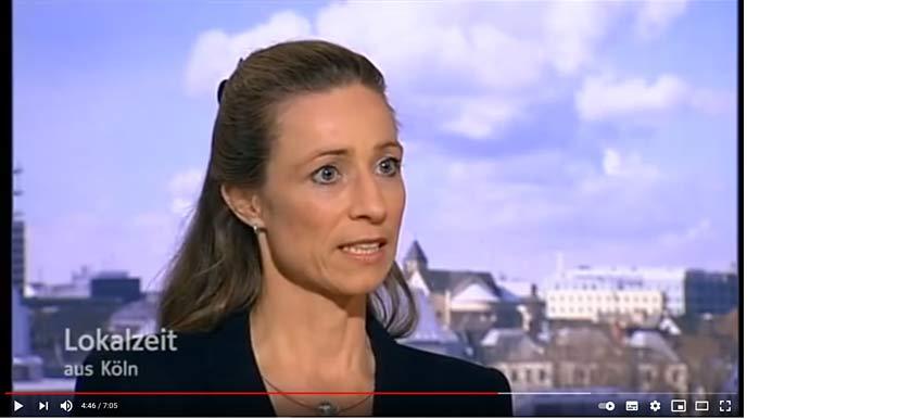 Physiotherapeutin Ktrain Franke, Inhbaerin fitagain, Praxis für Physiotherapie, in der WDR Lokalzeit zum Thema CMD